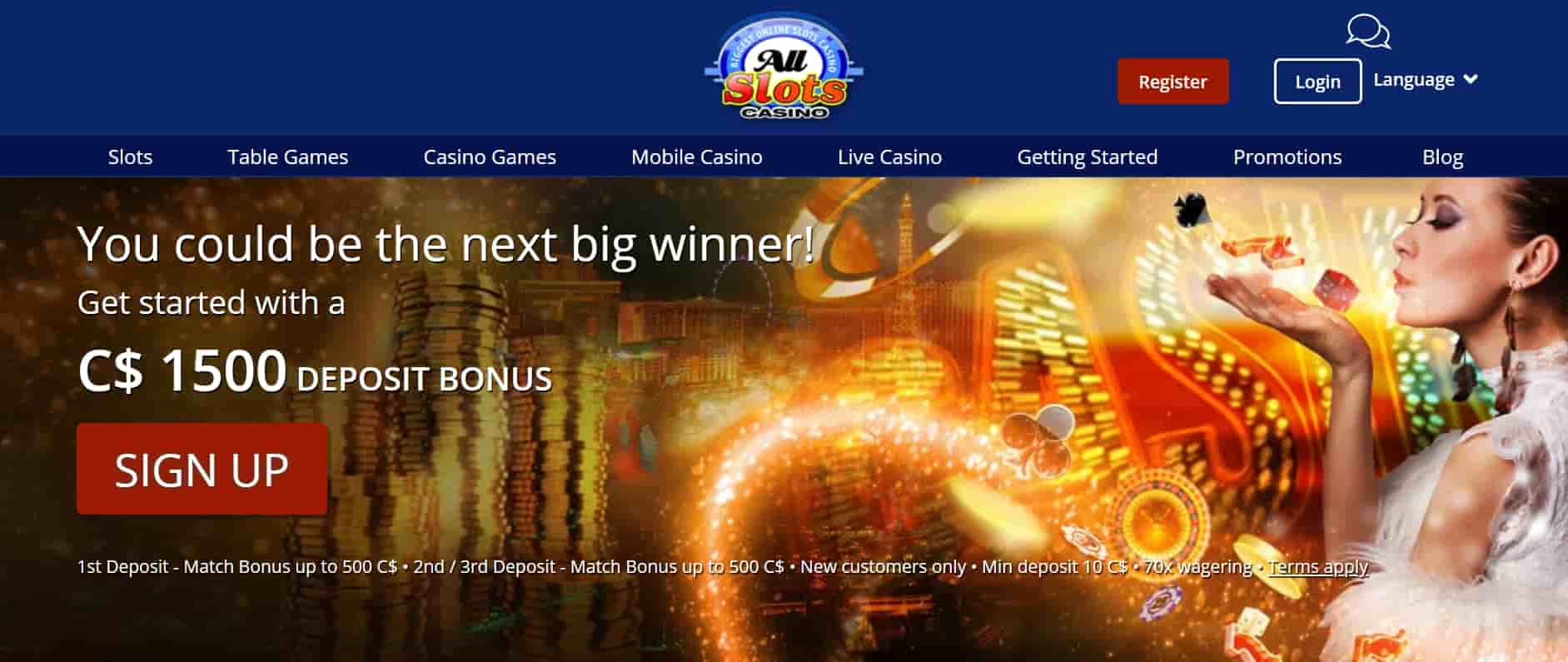 All slots online casino Canada