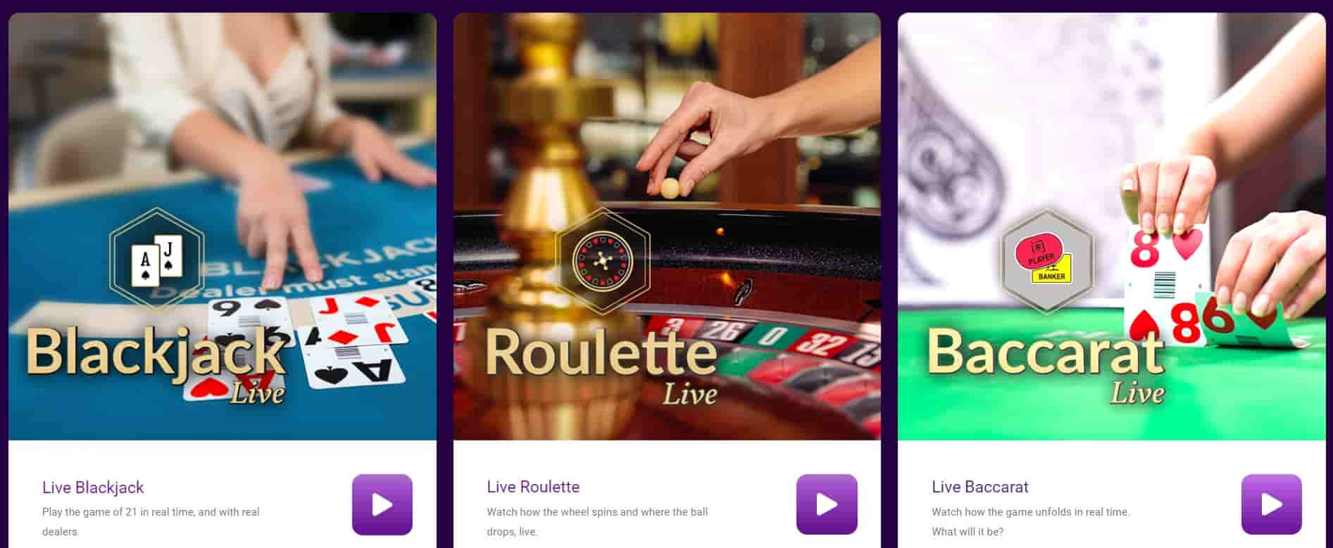 Jackpot City Canada Live Casinos