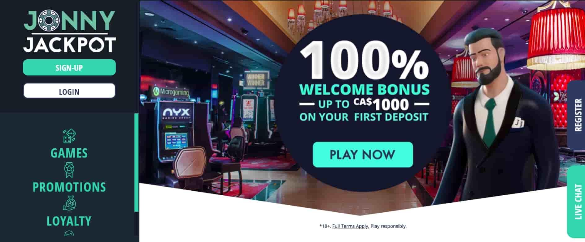 Jonny Jackpot Online Casino