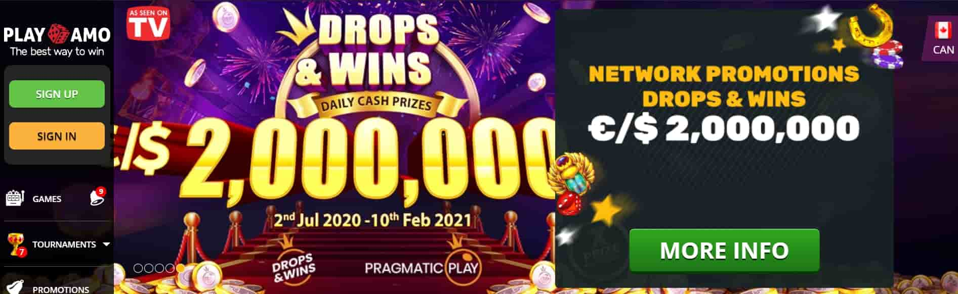 Play Amo casino online jackpot