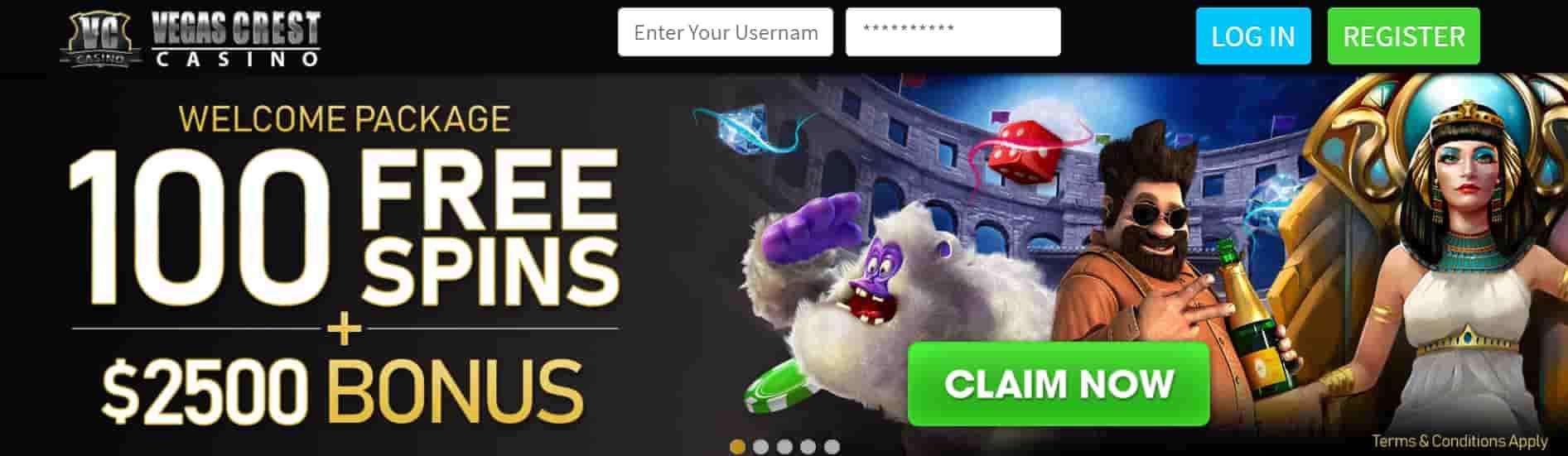 vegascrest online casino canada