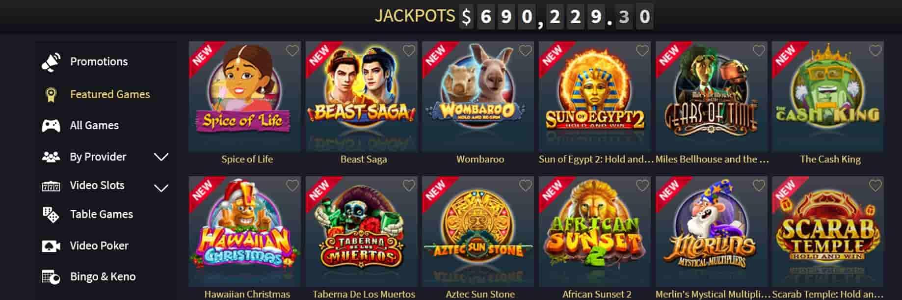 Vegas Crest Online Games