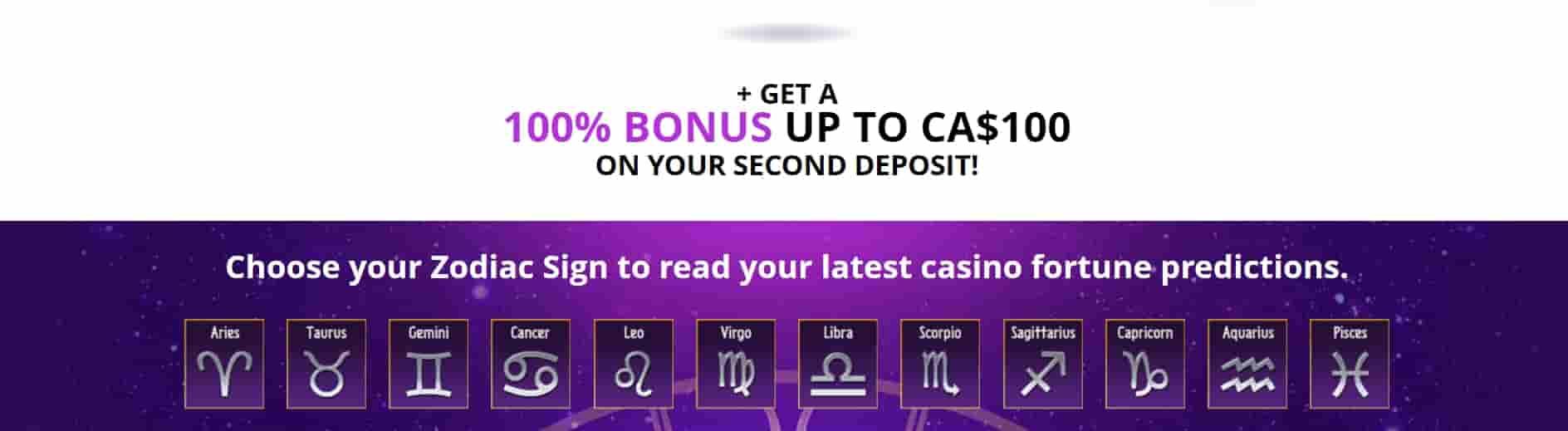 zodiac casino signup bonus
