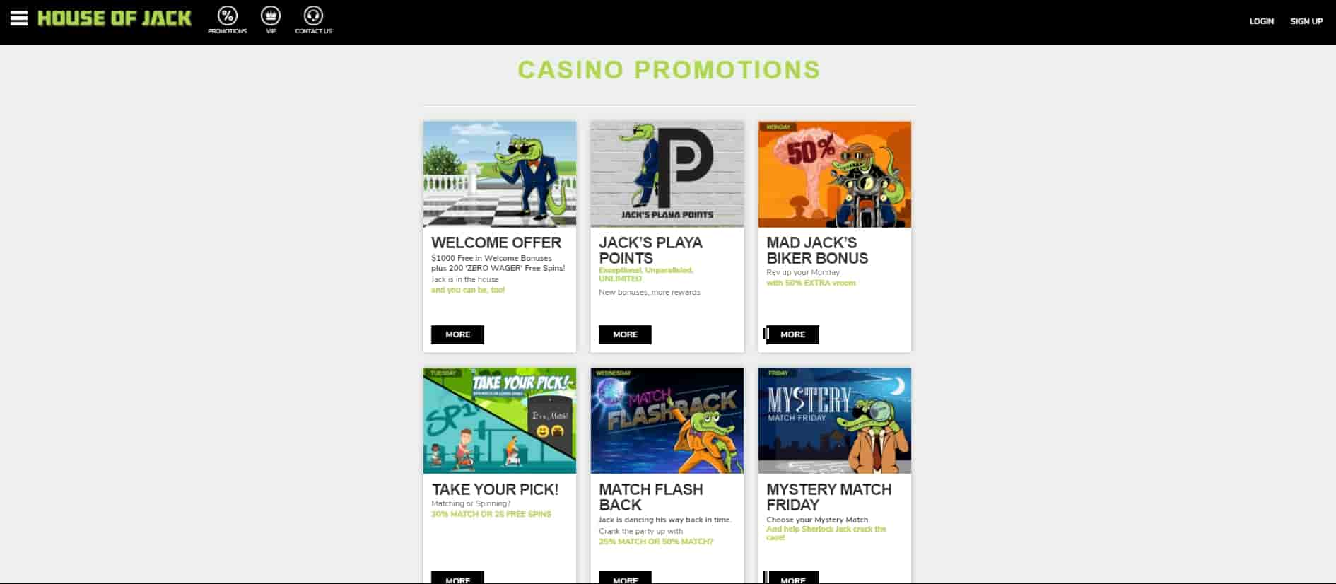 house of jack Online Casino Promotions