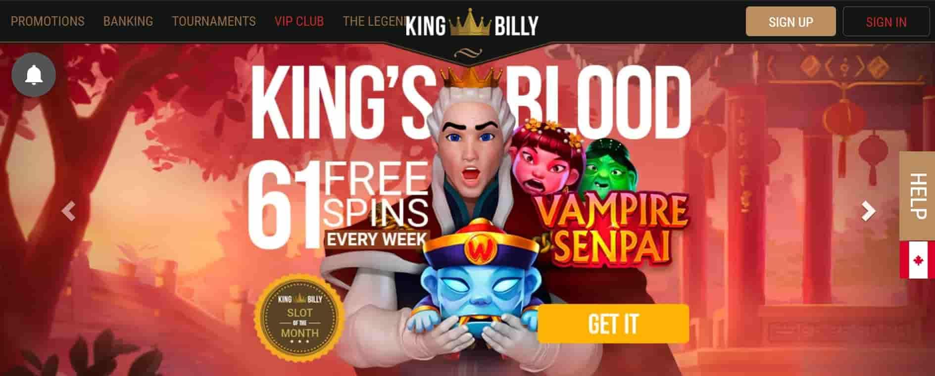 king billy casino top slots