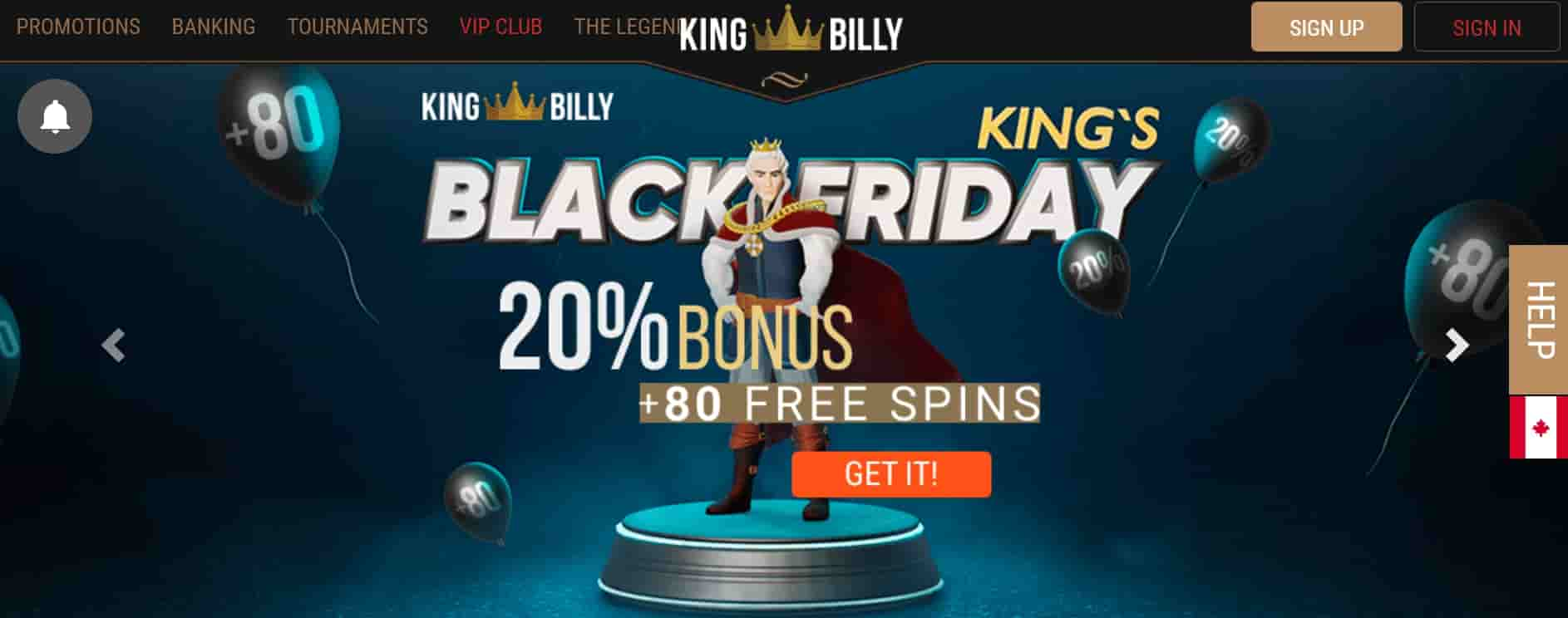 kingbilly casino promo