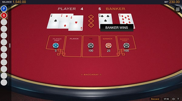 classic baccarat online game