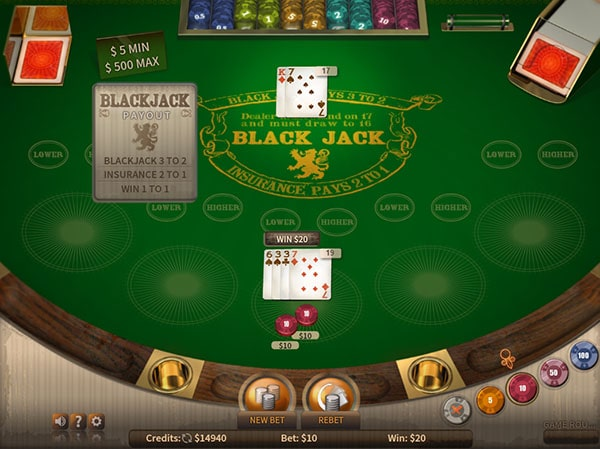 blackjack sites that accept real money playing