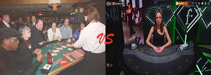 real casino blackjack vs live blackjack